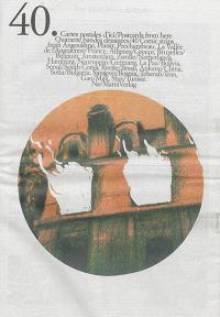 40 cartes postales d'ici : quarante bandes dessinées de reportage : 12 reportages dessinés du XIXe siècle = 40 postcards from here : 40 comic strips : from Angoulême, Plaisir, Préchambeau, La Vallée de l'Anguienne....