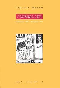 Journal. Volume 2, Septembre 1993 - décembre 1993