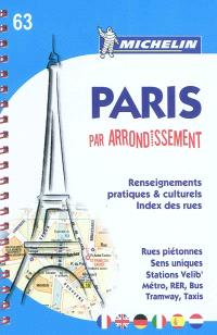 Paris par arrondissement