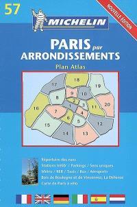 Paris par arrondissement : plan, atlas