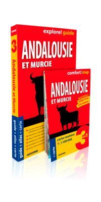 Andalousie et Murcie : 3 en 1 : guide + atlas + carte