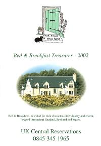 Bed and breakfast treasures 2002