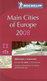Main cities of Europe 2008