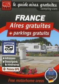 Guide des aires gratuites camping-cars : aires gratuites + parkings gratuits : France