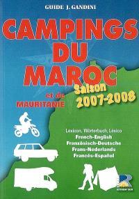 Campings du Maroc et de la Mauritanie : saison 2007-2008