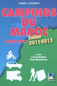 Campings du Maroc et de Mauritanie : guide critique : saison 2011-2012