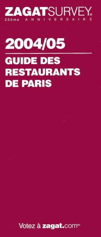 Guide des restaurants de Paris 2004-2005