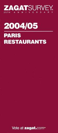 Paris restaurants 2004-2005