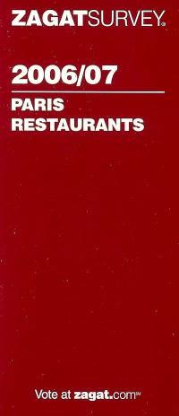 Paris restaurants 2006-07