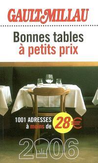 Bonnes tables à petits prix : 1.001 adresses à moins de 28 euros