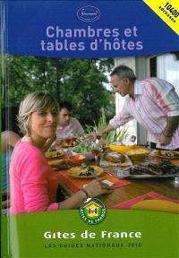 Chambres et tables d'hôtes 2010