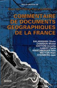 Commentaire de documents géographiques de la France