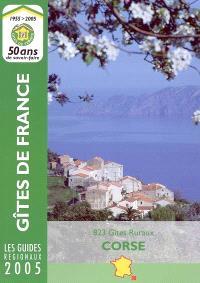 Corse 2005 : 823 gîtes ruraux