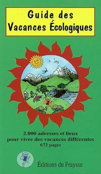 Guide des vacances écologiques : 2002-2003
