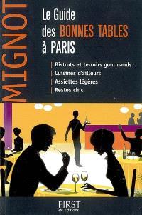 Le guide des bonnes tables à Paris