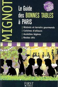 Le guide des bonnes tables à Paris