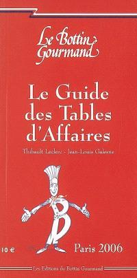 Le guide des tables d'affaires : Paris 2006