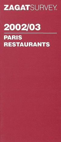 Paris restaurants 2002-03