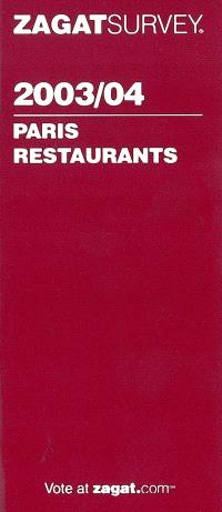 Paris restaurants 2003-2004