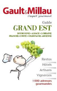 Guide grand Est : Bourgogne, Alsace, Lorraine, Franche-Comté, Champagne-Ardenne