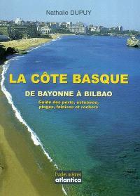 La côte basque, de Bayonne à Bilbao : guide des ports, estuaires, plages, falaises et rochers