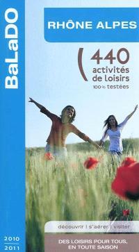 Rhône-Alpes : 440 activités de loisirs