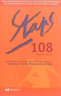 Staps. n° 108, Adolescent(e), adolescence, sport et éducation physique
