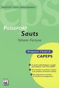 Sauts : CAPEPS externe, épreuve d'admission orale 2, méthodologie et contenus