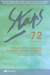 Staps. n° 72, Enseigner l'EPS et intervenir en activité physique et sportive