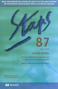Staps. n° 87, Loisirs et pratiques corporelles : usages sociaux et représentations