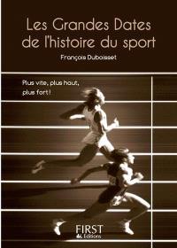 Les grandes dates de l'histoire du sport : plus vite, plus haut, plus fort !