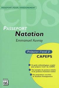 Passeport natation : CAPEPS externe, épreuve d'admission orale 2, méthodologie et contenus