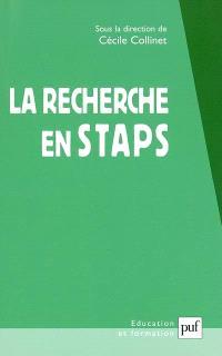 La recherche en STAPS : les tensions essentielles