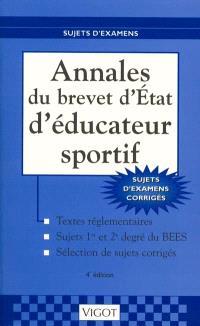 Annales du brevet d'Etat d'éducateur sportif