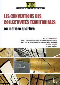 Les conventions des collectivités territoriales en matière sportive
