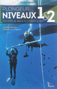 Code Vagnon plongeur niveaux 1 & 2 : encadré 20-40 m, autonome 12-20 m