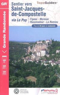 Sentier vers Saint-Jacques-de-Compostelle, Via Le Puy : Figeac-Moissac, Rocamadour-La Romieu : plus de 20 jours de randonnée