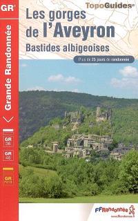 Les gorges de l'Aveyron : bastides albigeoises : GR 36 (Cahors, Mazamet) 359 km, GR46 (Les Cabannes-Beauregard) 112 km, Variantes GR de Pays 80 km, GR de Pays (boucle à partir de Lisle-sur-Tarn) 50 km, plus de 25 jours de randonnée