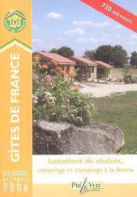 Locations de chalets, campings et campings à la ferme 2006
