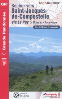 Sentier vers Saint-Jacques-de-Compostelle, Via Le Puy : Moissac-Roncevaux, GR 65 : plus de 15 jours de randonnée