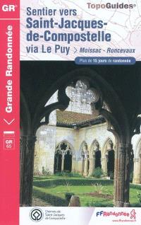 Sentier vers Saint-Jacques-de-Compostelle, Via Le Puy : Moissac, Roncevaux, GR 65 : plus de 15 jours de randonnée
