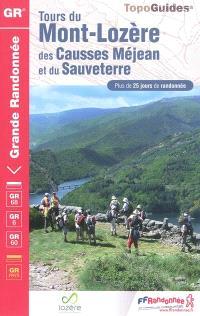 Tours du mont Lozère, du causse Méjean, causse de Sauveterre, parc national des Cévennes : plus de 25 jours de randonnée