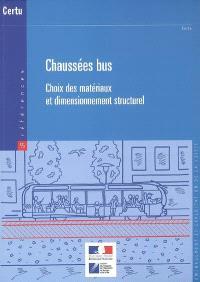 Chaussées bus : choix des matériaux et dimensionnement structurel