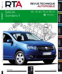 Revue technique automobile. n° 800, Dacia Sandero II : 1.5 dCi (75 et 90 ch) depuis 10-2012