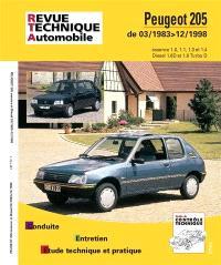 Revue technique automobile. n° 112, Peugeot 205 essence et diesel