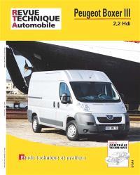 Revue technique automobile, hors série. n° 20, Peugeot Boxer III 2,2 Hdi : étude technique et pratique