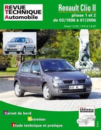 Renault Clio II phase 1 et 2 de 03-1998 à 07-2006 : diesel 1.5 dCi, 1.9 D et 1.9 dTi