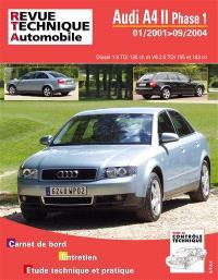 Revue technique automobile, Audi A4 II phase 1 : 01-2001 jusqu'au 09-2004 : diesel 1.9 TDi 130 ch et V6 2.5 TDi 155 et 163 ch