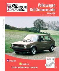 Revue technique automobile. n° 731.1, Golf Scirocco et GTI 74-84