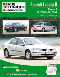 Revue technique automobile. n° B748, Laguna II PH.2. 1.9 DCI 03-05 jusqu'au 09-07